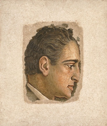 Προσωπογραφία Παντελή Πρεβελάκη, π. 1938 - 1939 Αυγοτέμπερα fresco (νωπογραφία) , 19 x 14 εκ. ΕΘΝΙΚΗ ΠΙΝΑΚΟΘΗΚΗ Δωρεά Σόφης Κεφάλα
